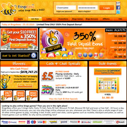 Bingo Beez website